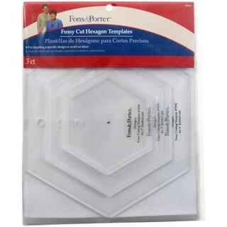Fons & Porter Fussy Cut Templates-Hexagons