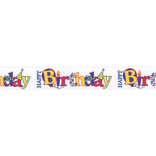 """Everyday Sentiment Ribbon 7/8""""X9'-Happy Birthday"""