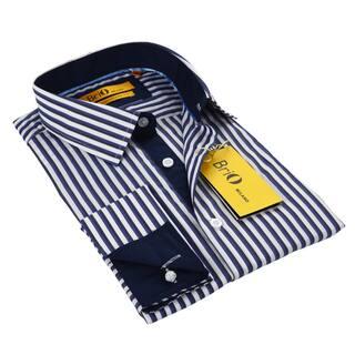 BriO Milano Men's Blue/ Black/ White Button Down Dress Shirt|https://ak1.ostkcdn.com/images/products/9531850/P16710860.jpg?impolicy=medium