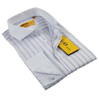 BriO Milano Men's Pink/ Blue/ White Button Down Dress Shirt