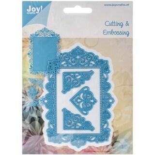 """Joy! Crafts Cut & Emboss Die-Frame/3 Corners, To 4.5"""""""