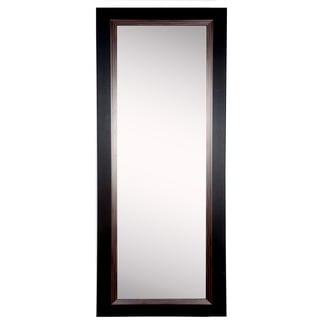 American Made Rayne Black and Brown Grain 26.25 x 64.25-inch Slender Body Mirror - Black/Brown