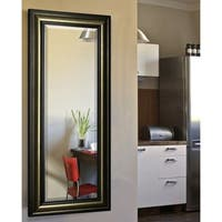 American Made Rayne Antiqued 29.5 x 67.5-inch Full Body Mirror - Bronze/Black