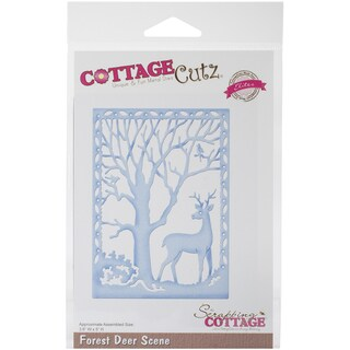 CottageCutz Elites Die -Forest Deer Scene