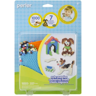 Perler Fun Fusion Fuse Bead Activity Kit-Cute Puppies