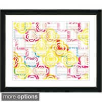 Studio Works Modern 'Zagurat Pattern' Framed Fine Art Print