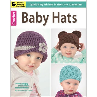 Leisure Arts-Crochet: Baby Hats