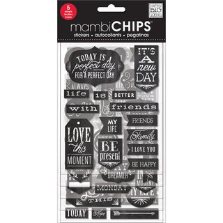 Chipboard Value Pack-Chalk- It's A New Day