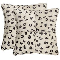 Safavieh Beau Leopard 18-inch Square Throw Pillows (Set of 2)