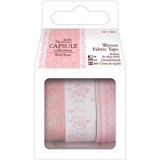Papermania Wild Rose Fabric Tape 3/Pkg-1m Each