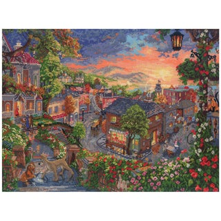 "Disney Dreams Collection By Thomas Kinkade Lady & The Tramp-16""X12"" 18 Count"
