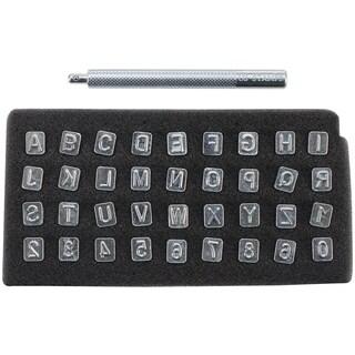 Alphabet & Number Stamp Set 1/4in