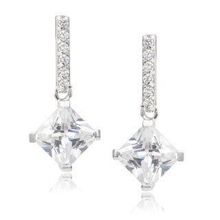 Journee Collection Sterling Silver Cubic Zirconia Drop Earrings