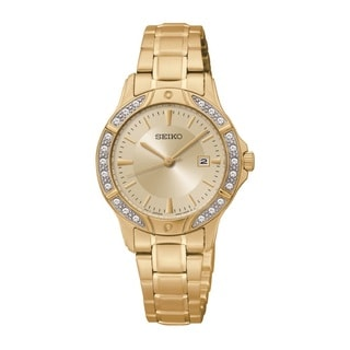 Seiko Women's SUR874 Stainless Steel and Austrian Crystal Watch