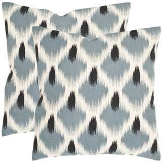 Safavieh Alex Blue 18-inch Square Throw Pillows (Set of 2)