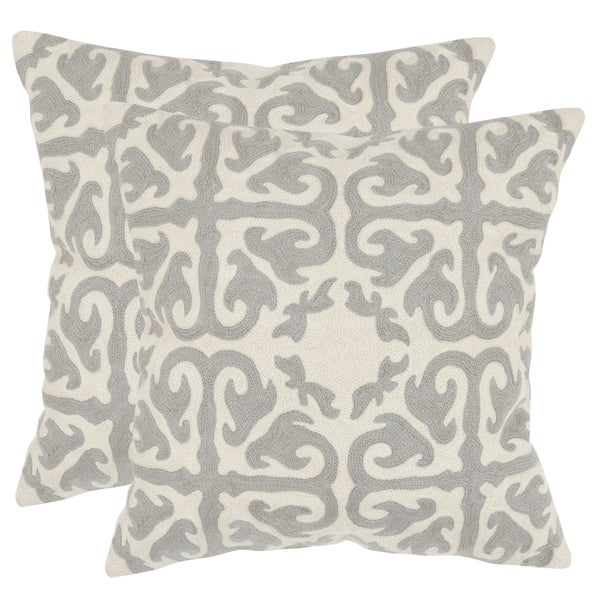 Shop Safavieh Morrocan Light Grey 22 Inch Square Throw