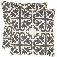 Safavieh Morrocan Charcoal 22-inch Square Throw Pillows (Set of 2)