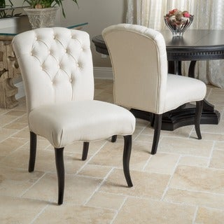 Hallie Fabric Dining Chair (Set of 2) by Christopher Knight Home