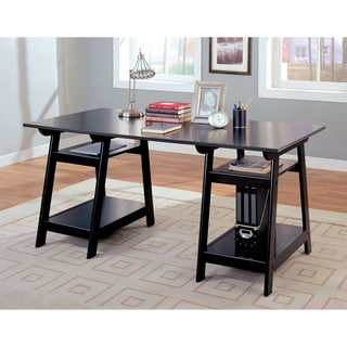 Coaster Company Trestle Black Wood Desk