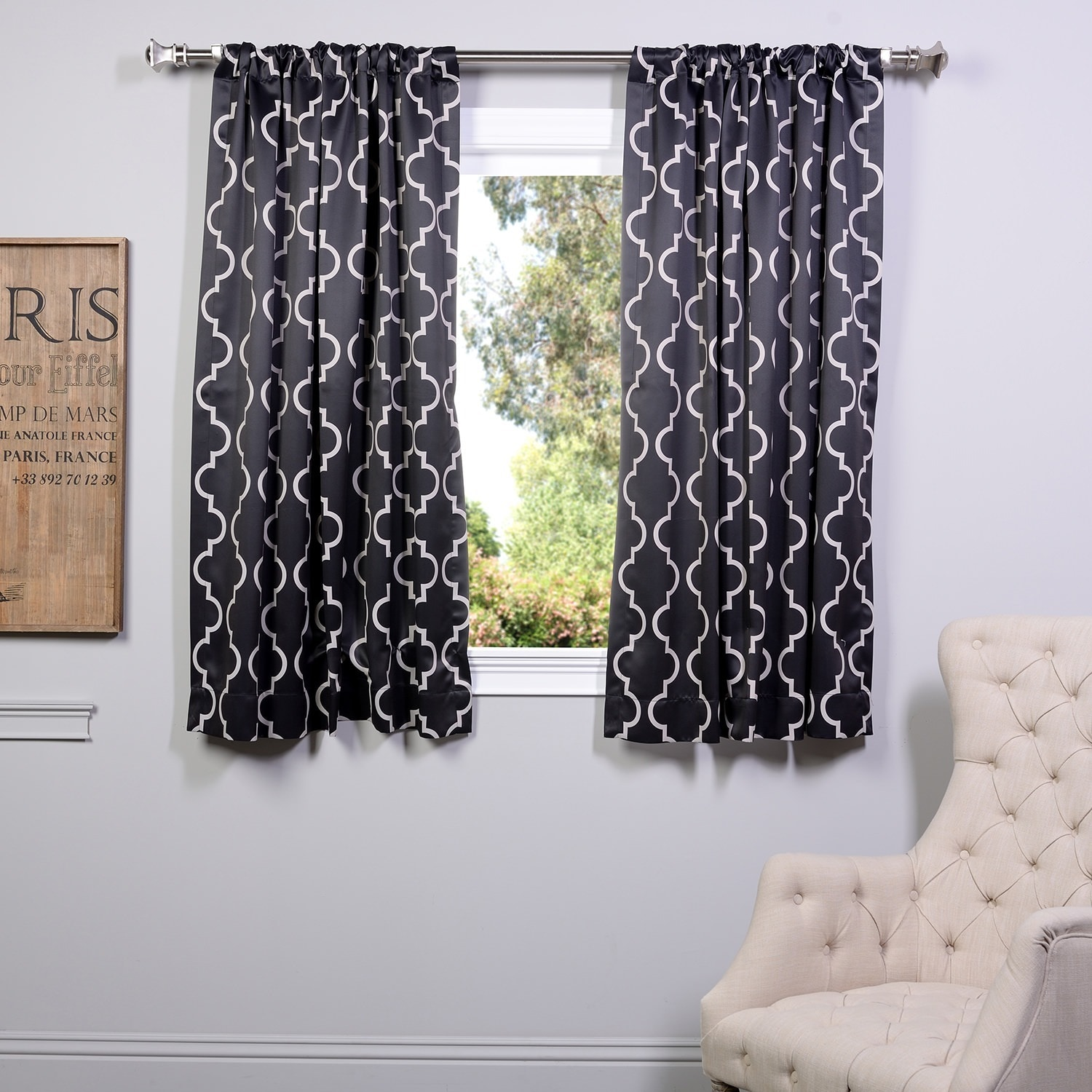 intended curtains black blackout for curtain panel lined short white x