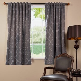 Exclusive Fabrics Seville 63-inch Blackout Curtain Panel Pair