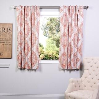 Exclusive Fabrics Henna 63-inch Blackout Curtain Panel Pair (Option: 50 x 63 - Orange)