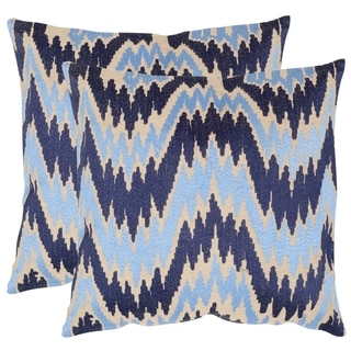 Safavieh Adam Indigo 20-inch Square Throw Pillows (Set of 2)