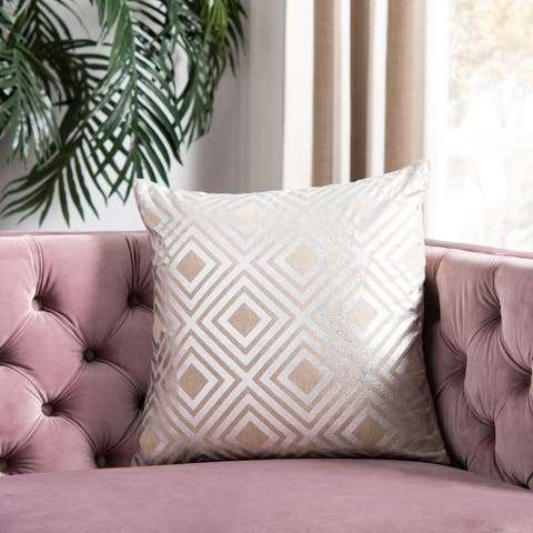 Safavieh Chloe Silver 22-inch Square Throw Pillows (Set of 2)