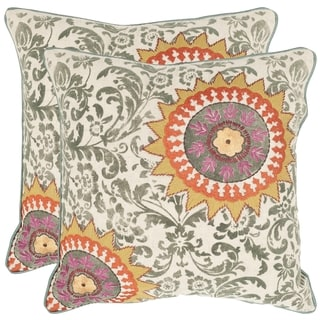 Safavieh Sunny Medallion 18-inch Feather Filled Throw Pillows (Set of 2)