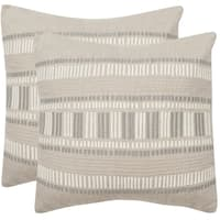 Safavieh Linea Taupe Granite 20-inch Square Throw Pillows (Set of 2)