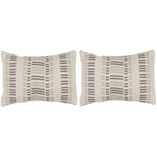 Safavieh Linea Taupe Granite 12 x 20-inch Throw Pillows (Set of 2)