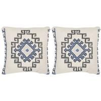 Safavieh Open Sky Arizona Blue 20-inch Square Throw Pillows (Set of 2)
