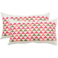 Safavieh Geo Mountain Slate 12 x 20-inch Throw Pillows (Set of 2)