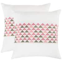 Safavieh Geo Mountain Slate 20-inch Square Throw Pillows (Set of 2)