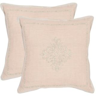 Safavieh Fiesole Petal 20-inch Square Throw Pillows (Set of 2)
