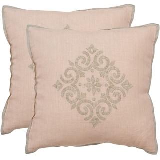 Safavieh Isola Petal 20-inch Square Throw Pillows (Set of 2)