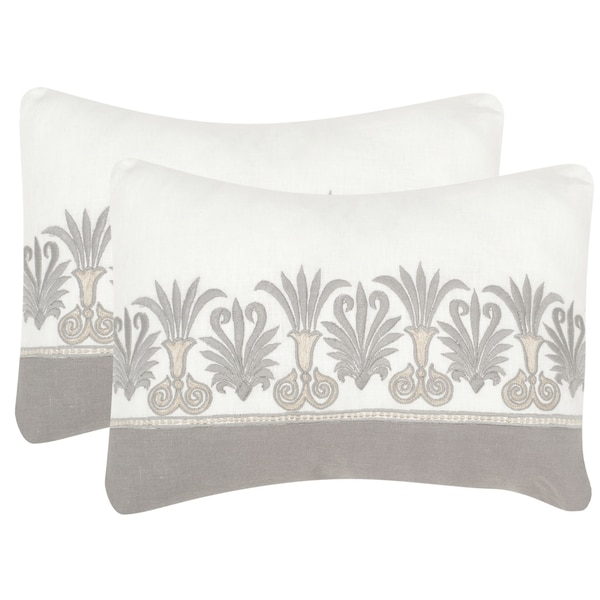 SAFAVIEH Royal Palm Sterling 12 x 20-inch Throw Pillows (Set of 2). Opens flyout.