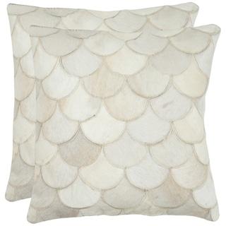 Safavieh Elita Multi/ Cream 18-inch Square Throw Pillows (Set of 2)