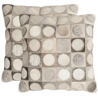 Safavieh Brigitte Multi/ Grey 22-inch Square Throw Pillows (Set of 2)