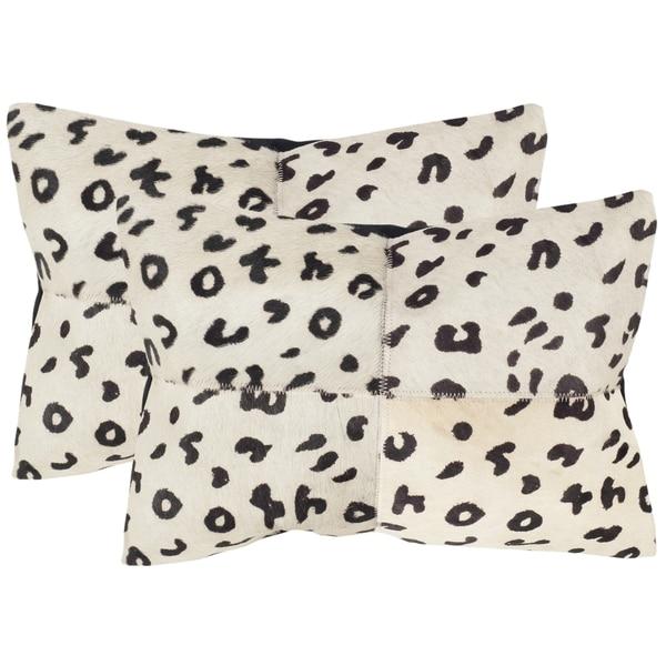 Shop Safavieh Beau Leopard 14 X 20 Inch Throw Pillows Set