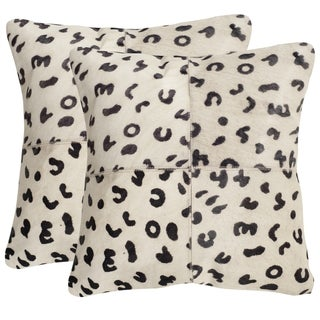 Safavieh Beau Leopard 22-inch Square Throw Pillows (Set of 2)