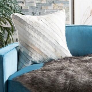 Safavieh Cherilyn White 22-inch Square Decorative Throw Pillows (Set of 2)