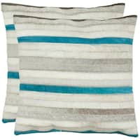 Safavieh Quinn Grey 22-inch Throw Pillows (Set of 2)