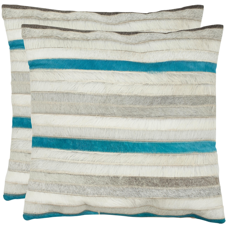 Safavieh Quinn Grey 22 Inch Throw Pillows Set Of 2 On Sale Overstock 9532888