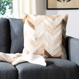 Safavieh Marley Multi/ Tan 18-inch Square Throw Pillows (Set of 2)