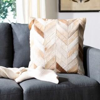 Safavieh Marley Multi/ Tan 18-inch Square Throw Pillows (Set of 2)
