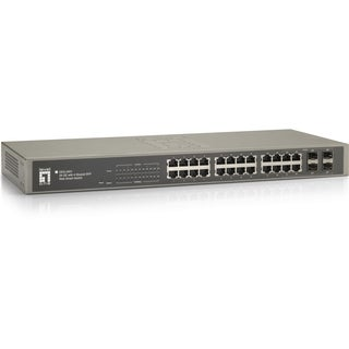 LevelOne 24 GE with 4 Shared SFP Web Smart Switch