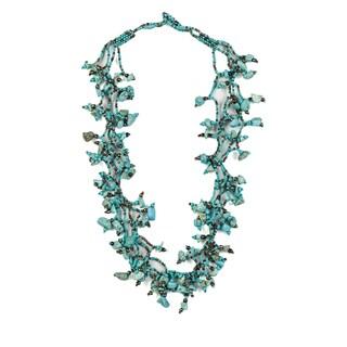 Handmade Turquoise Vine Necklace (Guatemala)