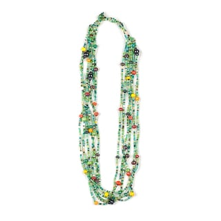 Hand-beaded Carnival Beads Necklace (Guatemala)