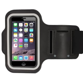 INSTEN Elastic Deluxe Sports Gym Running Black Armband For Apple iPhone 6
